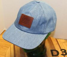 NWOT LOVE YOUR MELON HAT BLUE DENIM LEATHER PATCH LOGO STRAPBACK USA MADE D3