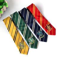 Harry Potter House Logo Badge Ties Hogwarts Slytherin Hufflepuff Gryffindor Tie