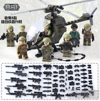 SET 8pcs Special Forces MILITARY Soldier Army WW2 Helicopter Lego Toys Custom
