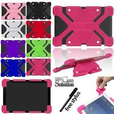 """Fit Various 9"""" 10"""" Tablet Universal Bumper Silicone Stand Cover Case +Stylus"""