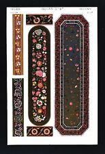 1868 Owen Jones Ornament Print Indian No 6a Lacquer Work India House Collection