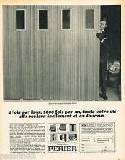 PUBLICITE ADVERTISING 105  1970  FERMETURES PERIER   porte de garage coulissante