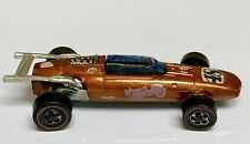 Hot Wheels Redline 1969 Orange Indy Eagle with Rare Black Base