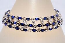 $39,900 20.61Ct Natural Ceylon Blue Sapphire & Diamond Bracelet 18K White Gold