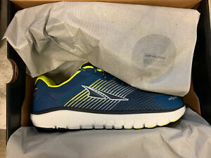 Altra Men's Provision 4 Road Running Shoe, Blue/Lime, 9 US