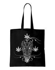 Cannabis Zucchero Teschio Tatuaggio Borsa a tracolla-Gotico Emo Abbigliamento Fashion Tatuaggio