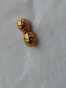 Tie Tack Lapel Pin Tiny Brass Peanut