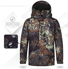 Southplay Mens Germany Military Waterproof Ski-Snowboard Outwear Hood Jacket
