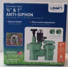 """New In Box Orbit Automatic Sprinkler Valve 3/4"""" & 1"""" Anti-Siphon Model 57604"""