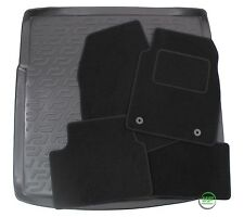 VAUXHALL INSIGNIA SPORTS TOURER Tailored black floor car mats + boot tray mat