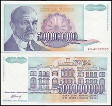 Yugoslavia 500 Million Dinara, 1993, P-134, UNC