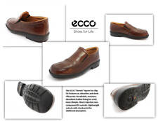 """Men's Ecco Brown Leather """"Dennis"""" Loafers:Size 39 euro/ 8.5 us"""