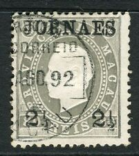 MACAU;  1882-93 early Newspaper issue used JORNAES 2.5r. value, shade