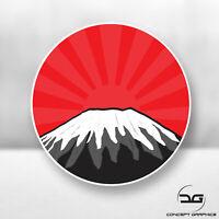 JDM Mount Fuji Mountain Rising Sun Funny Japanese Drift Car Vinyl Decal Sticker