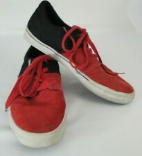 Mens Supra Skater Shoes Terry Kennedy Red Suede Black Canvas 10 M Skateboarding