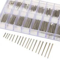 360 Stücke Edelstahl Uhrenarmband-Splinte Reparaturstifte Pins 6-23mm mit Box CE