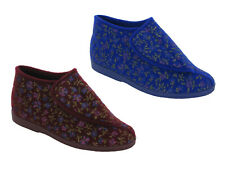 Womens Bootie Slippers Winter Comfort Machine Washable Touch Fastening Sizes 3-6