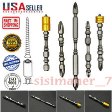 """Super Drill Set 2 Units 65mm/& 110mm Durable HRC 65 Tools 1//4 /""""Hexagon 4 Pcs//Set"""