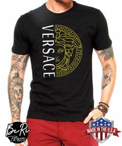 COLLEC-VERSACE19-2609 LOGO T-shirt Re-printed on Gildan 5000 T-shirt, Size S-5XL