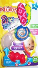 Nuby Wacky Teething Ring, Baby Shower, Diaper Cake, BPA Free, 3+ Months *
