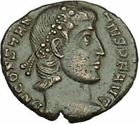 CONSTANTIUS II son of Constantine the Great Roman Coin Wreath of success i39887