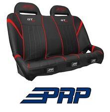 PRP Suspension Rear Bench Seat - Black / Red 14-17 Polaris RZR XP 1000 & Turbo