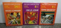 LOT OF THREE GAMES FOR ATARI 2600/7800 BRAND NEW VINTAGE RARE NOS OPEN BOX #10