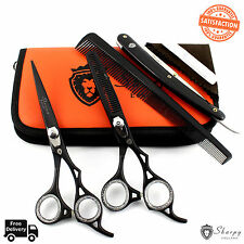 "Professional Barber Hairdressing Scissors Thinning Hair Cutting Shears 6.5"" Set"