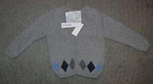 Koala Kids Boys Gray Cotton Sweater - Size 4 (48 Months) - NWT