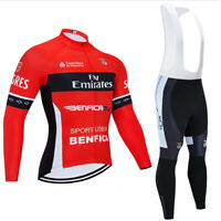 Cycling Jersey Women Men's Bib Pants Set Long Sleeve 3D Pad Bike Sports Ride