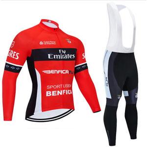 Cycling Jersey Women Men's Bib Pants Set Long Sleeve 3D Pad Bike Sports Ride