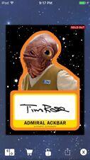 Topps Star Wars Digital Card Trader Black Journey Ackbar Signature Insert