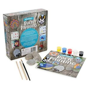 Hinkler Animal Rock Painting Starter Kit with 24-Page Book - Exciting Family Fun