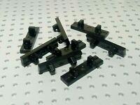 Lego Hinge Locking Tile 1x4 with 2 Single Fingers on Top [44822] Black x8