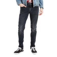 Levi's 512 Gris Foncé Stretch Slim Coupe Fuseau Dessous Jeans Taille W30 L32