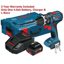 4.0ah Bosch GSB 18 V-Li DS Pro L-Boxx Senza Fili Li Combi 060186717E 3165140726245