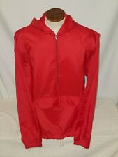 Pyramid Windbreaker Red Size Large mens vintage pullover