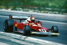 Niki Lauda 1977 French Grand Prix signed large photo F1 Ferrari 312 T2 winner
