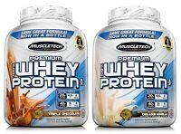 MuscleTech 5 lb Jar 100% Whey Protein Powder Premium Vanilla or Chocolate