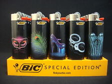 7 Bic Lighters Fantasy Masquerade Feather Heels HandCuffs Corset (Only 6 Design)