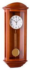 Klassische Wanduhr Pendel Funk Uhr Kirschbaum Westminster Regulateur Funkuhr