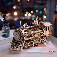 DIY Train Gear Model Building Kits Locomotive Construction Set Clockwork Toy Boy