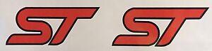 2x Ford Focus ST / Fiesta ST Emblems Stickers Decals Logo JDM ECOBEAST ECOBOOST