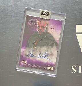 Star Wars Stellar 2020 DARTH MAUL Sam Witwer Autograph Card Purple 6/10