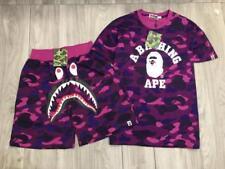 HOT A Bathing Ape Camo Outfits Bape Tracksuit Shark Face Shorts Ape Head TEE