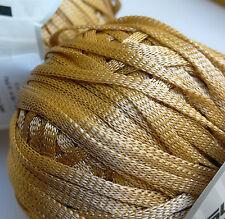 2 x 83g Ribbon Yarn. Beige. Knitting/Crochet/Weave/Textiles