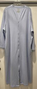 Cabernet Woman Sky Blue Fiberfill Long Full Zip Up Robe Size 3X House Dress