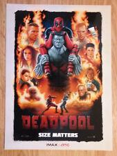 Mini Movie Poster Promo Deadpool IMAX Marvel Comics - Ryan Reynolds
