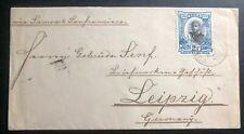 1898 Vavau Tonga Toga Vintage Cover to Leipzig Germany Via Samoa-San Francisco