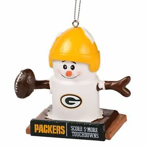 GREEN BAY PACKERS Smores Christmas Tree Ornament We Want Smore Wins Thematic